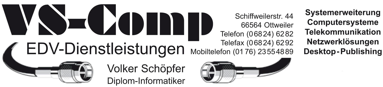 VS-Comp Als nebenberuflich tätiger EDV-Dienstleister stehe ich ...